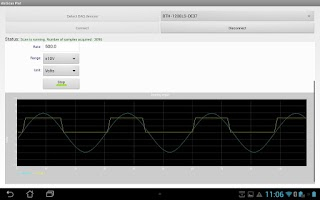 Screenshot of Analog Input Scan Demo