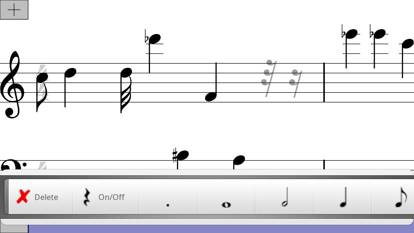 Musical Note Pad Free - screenshot