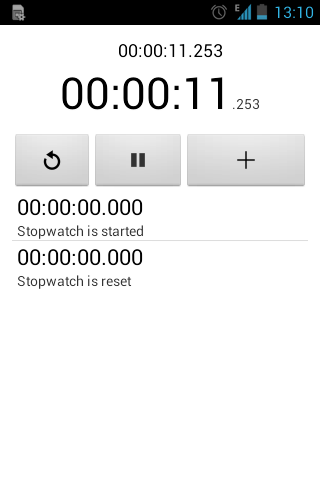 Simple Stopwatch- screenshot