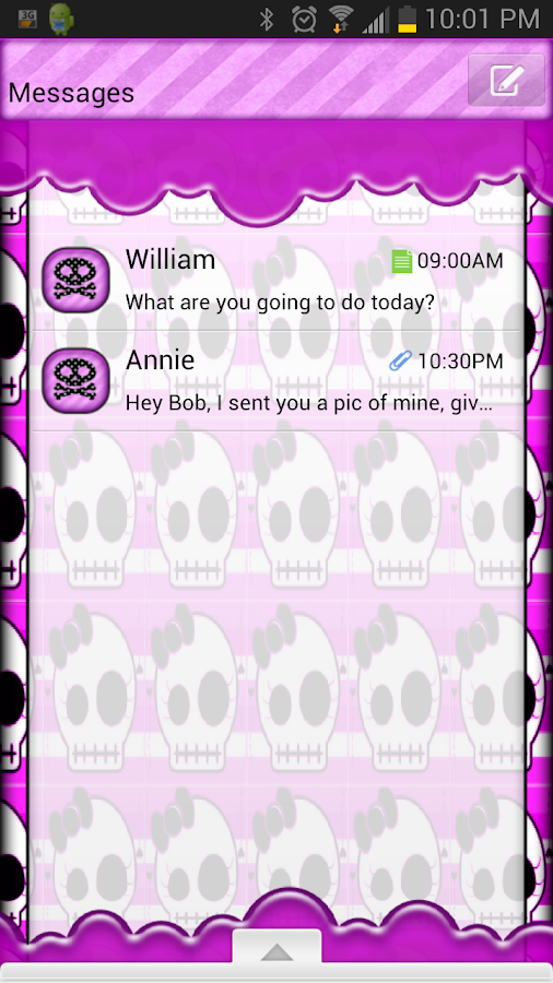GO SMS THEME/GirlyHalloween- screenshot