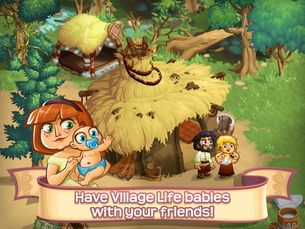 Screenshots of Village Life: Love & Babies for iPhone