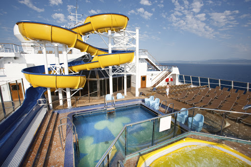 Costa-Pacifica-Lido-Bamba-waterslide - The Lido Bamba pool, whirlpool and waterslide on Costa Pacifica.