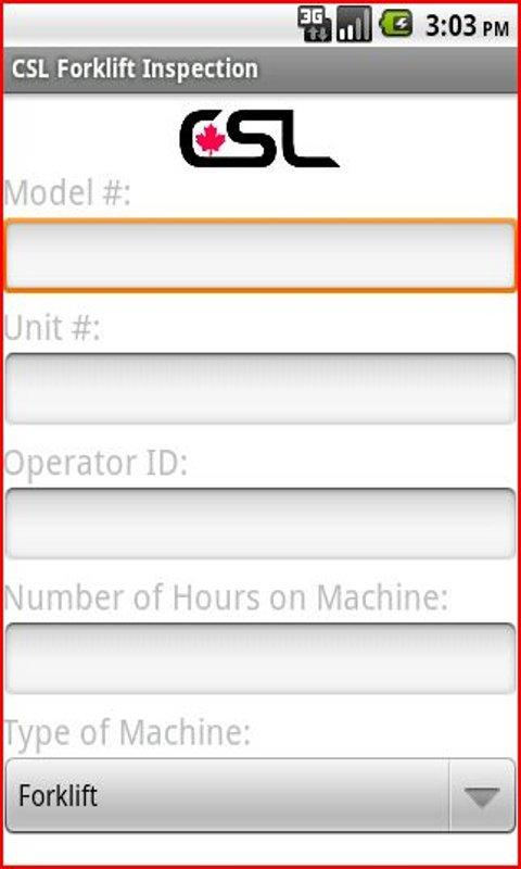 CSL Forklift Inspection App - screenshot