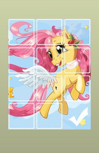Lovely Pony Sliding Puzzle