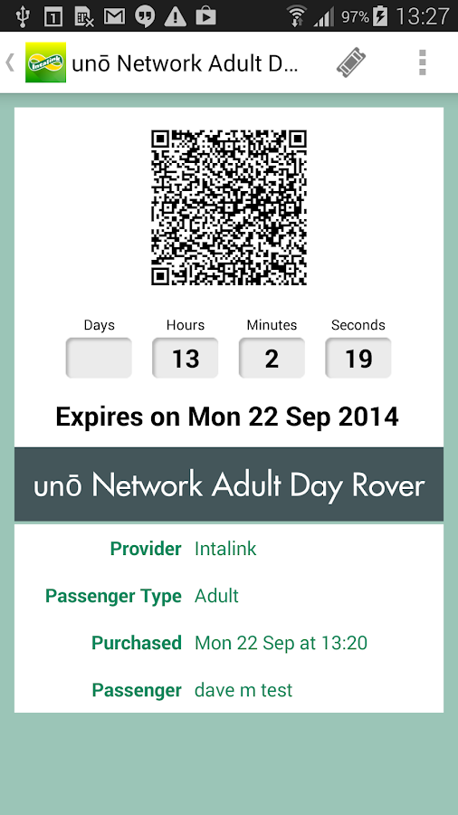Intalink Herts Bus M-Tickets- screenshot