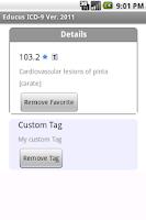 Screenshot of Educus ICD-9 Codes Ver. 2011