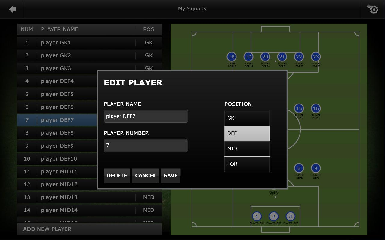 Mourinho Tactical Board Tablet- screenshot