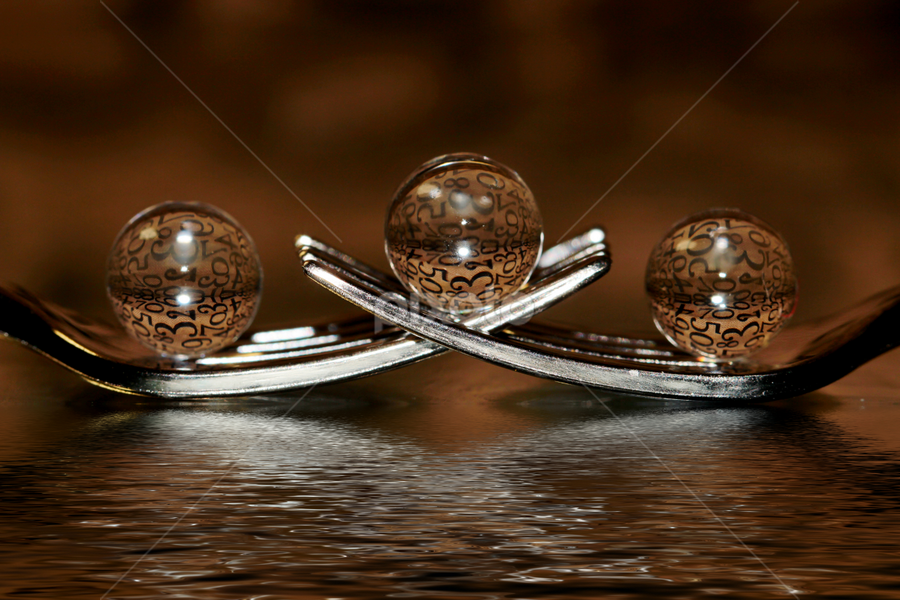 by Dipali S - Artistic Objects Other Objects ( abstract, reflection, fork, artistic, sphere, number, refraction, transparent )