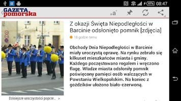 Screenshot of Gazeta Pomorska