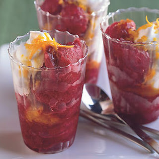 Cranberry Granita with Orange Whipped Cream