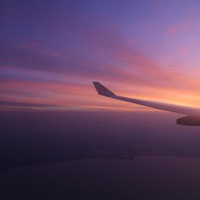 Sunrise in KualaLumpur Horizon by Manoj Ojha - Landscapes Sunsets & Sunrises ( kualalumpur, malaysian airlines, plane, nature, horizon, malaysia, sunrise, sun,  )