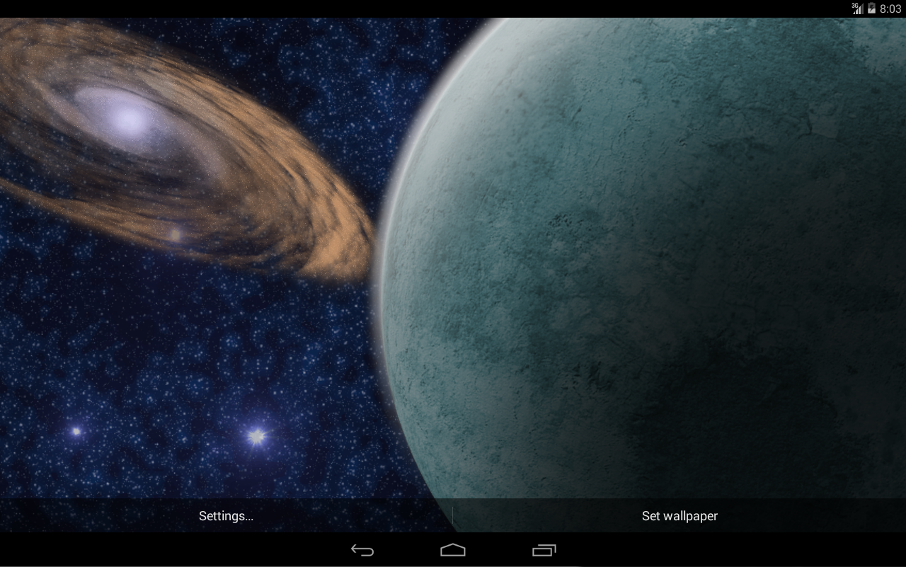 Gmail planets theme - Rotating Planet Live Wallpaper Screenshot