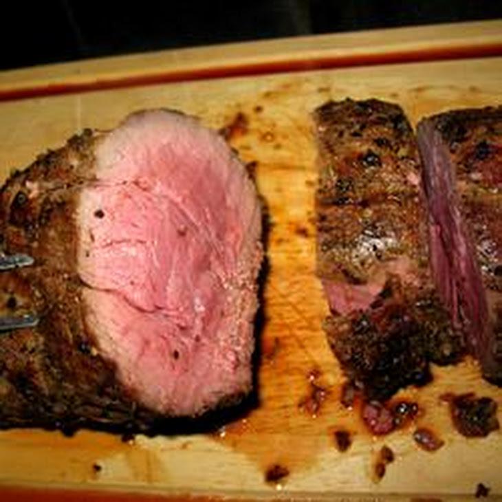 Grilled Beef Tenderloin with Herb-Garlic-Pepper Coating Recipe
