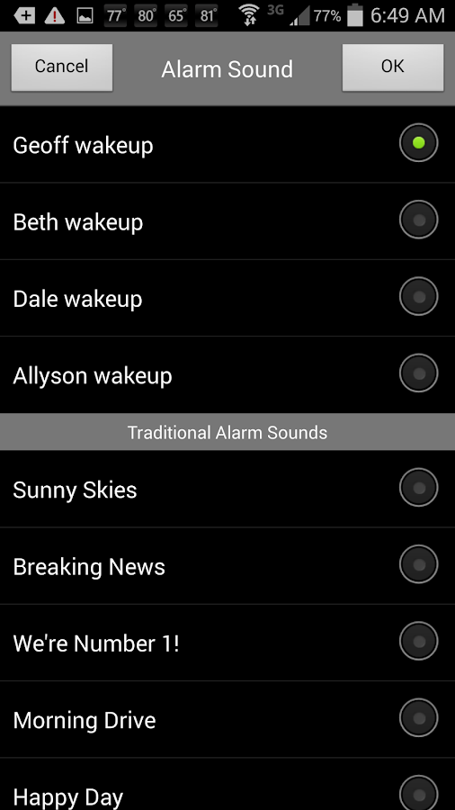 Alarm Clock WYFF 4 Greenville- screenshot