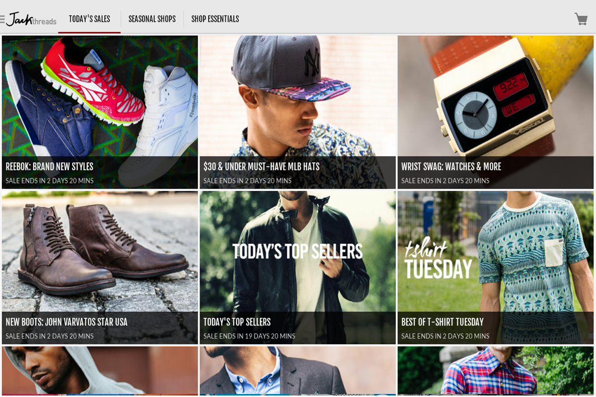 JackThreads - screenshot