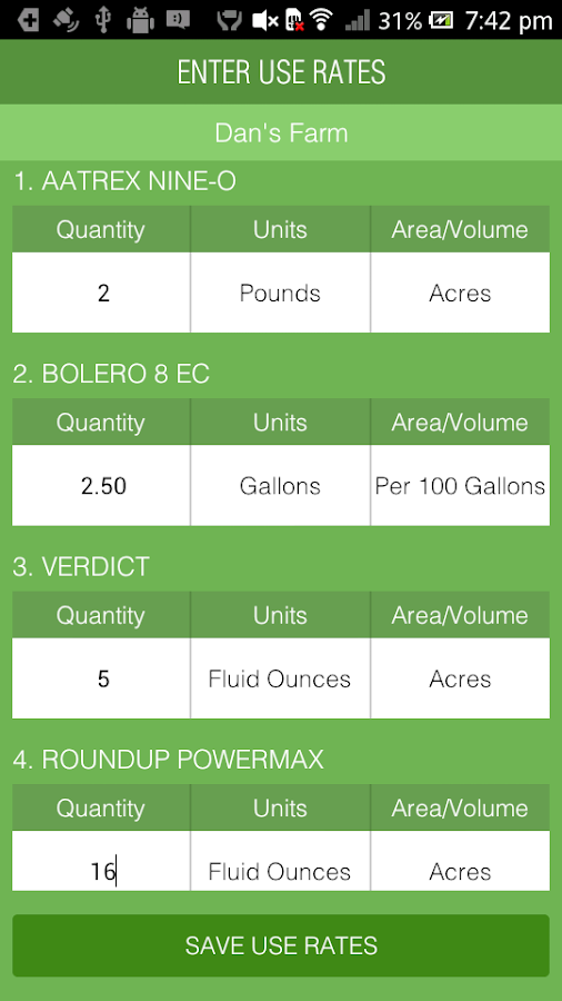 Mix Tank – Tank Mixing Ag App- screenshot