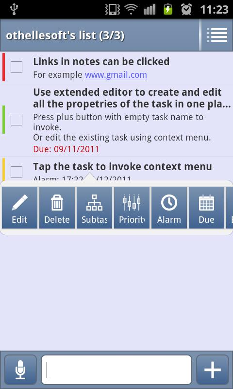 ProDo | Tasks List (To do list - screenshot