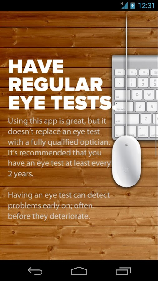 Vision Test 2.0- screenshot