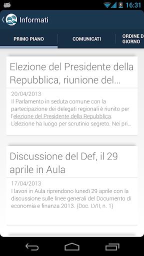 In Camera - Politica italiana