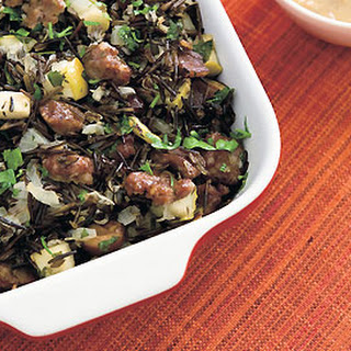 Wild Rice Dressing with Apples and Chestnuts