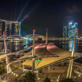 Espalande by Alex Shanti - City,  Street & Park  Night ( hdr, night, marina bay, singapore, city, , Urban, City, Lifestyle )