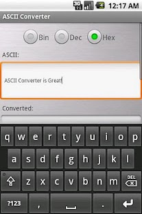 ASCII Converter - screenshot thumbnail