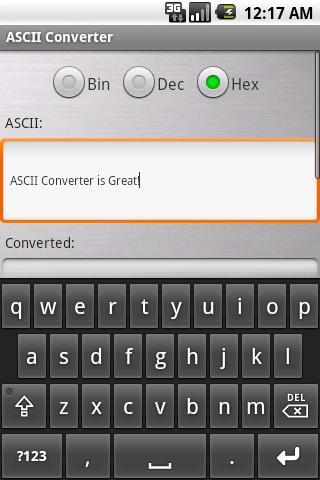 ASCII Converter- screenshot