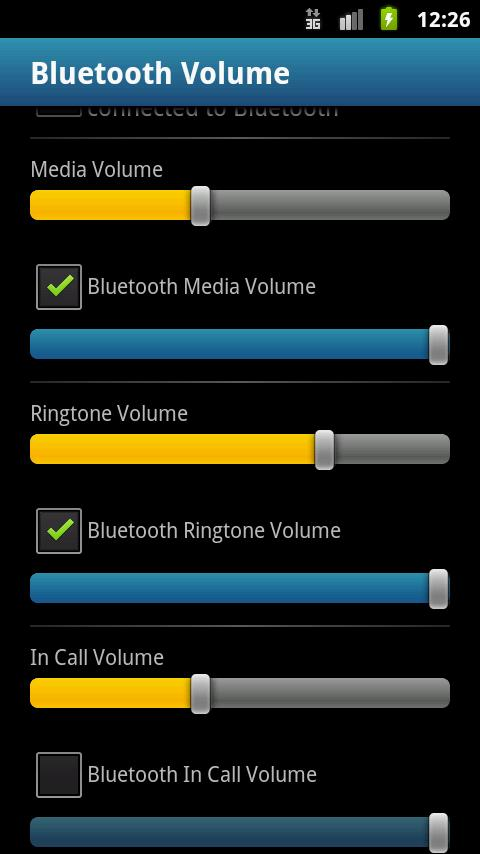 Bluetooth Volume Donate - screenshot