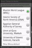 Screenshot of Alhafiz Prayer Times