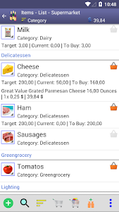 Perfect Shopping List screenshot 1