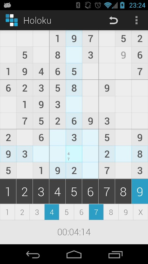 Holoku (Holo Sudoku) - screenshot