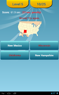 US States Quiz - screenshot thumbnail
