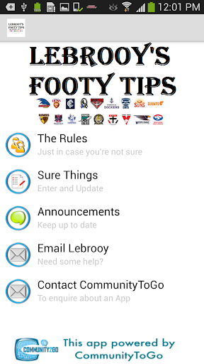 Lebrooy's Footy Tips