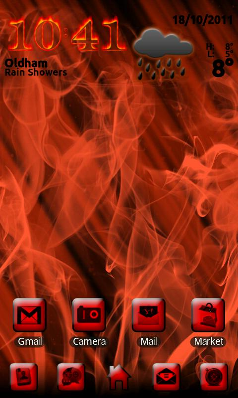Smoke and Fire Go Launcher EX - screenshot