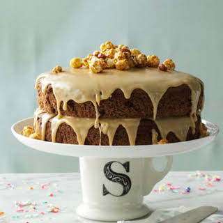 Chocolate Spice Cake with Caramel Icing.