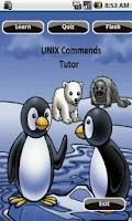 Screenshot of Unix Commands Tutor