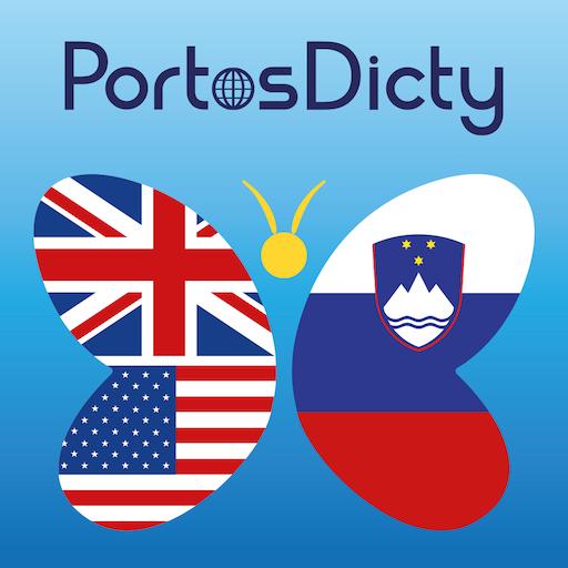 PortosDicty Eng-Slo LOGO-APP點子