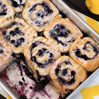 Gluten Free Blueberry Sweet Rolls.