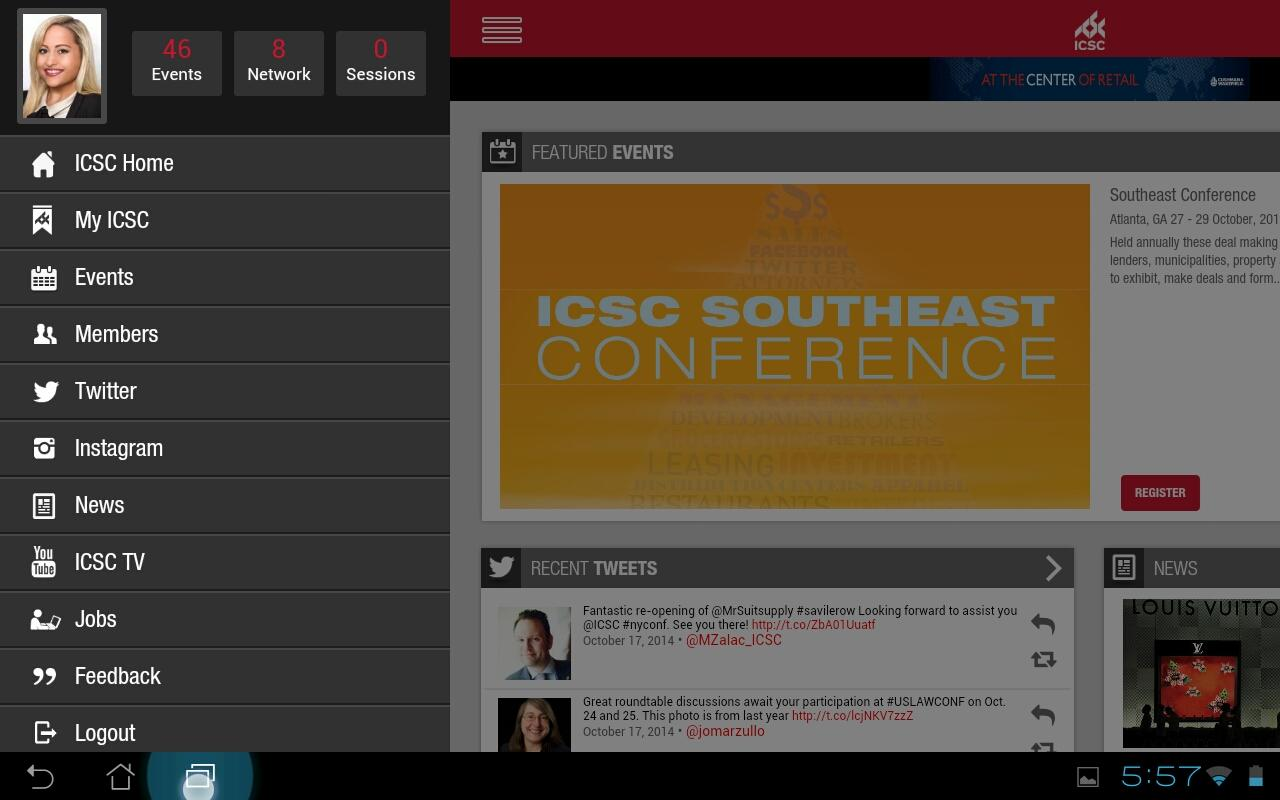 ICSC Mobile - screenshot