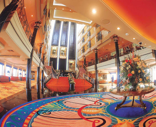 Norwegian Spirit's luxurious multi-deck Grand Centrum is a great place to meet new people.