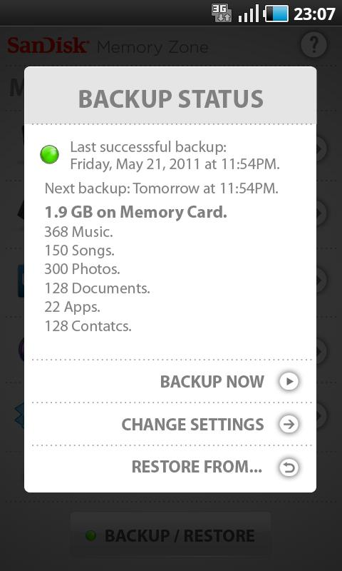 SanDisk Memory Zone- screenshot