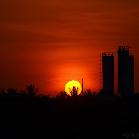 Sun Set in Bengaluru by Vipin Pachat - Landscapes Sunsets & Sunrises