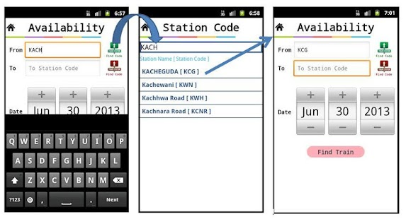 IRCTC ENQUIRY AND SMS BOOKING - screenshot thumbnail