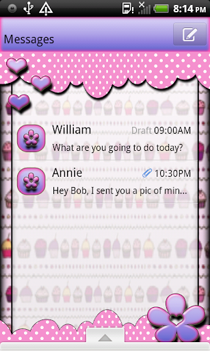 CupCakeQT2 GO SMS THEME