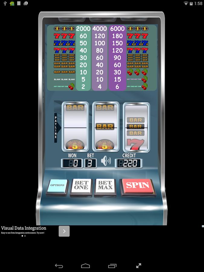 five times play slot machine