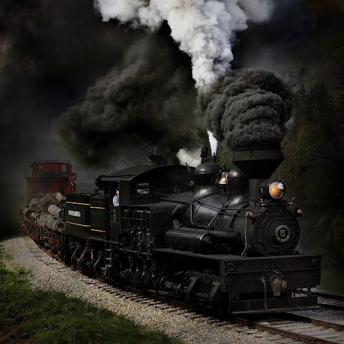 Blow That Whistle by Chuck  Gordon  - Transportation Trains ( cass, steam train, shay 5, train, gear train, steam )
