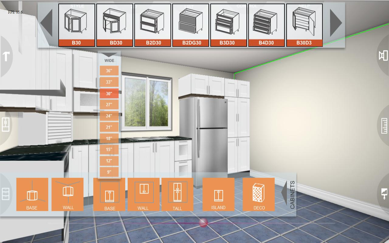 Kitchen Designer Tool eurostyle kitchen 3d design - android apps on google play