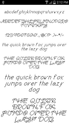 Fonts for FlipFont 13