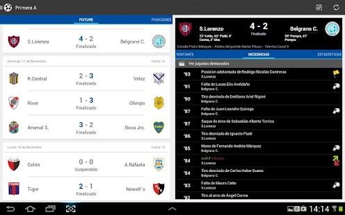 Liga Argentina de Fútbol Screenshot 13