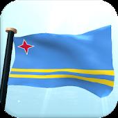 Aruba Flag 3D Free Wallpaper